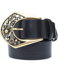 Elliot Rhodes - Curved Bubble Buckle Gold And Black Belt - Lyst