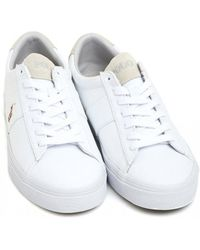 Ralph Lauren - White Canvas Trainers, Sayer Sneakers - Lyst