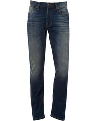 Nudie Jeans Dude Dan Jeans, Regular Fit Mid Wash Denim - Blue
