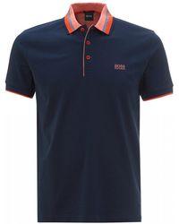 BOSS Paddy 1 Navy Blue Regular Fit Polo Shirt