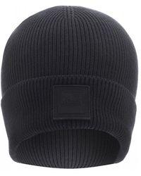 BOSS Foxx Beanie, Black Logo Hat