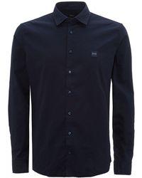 BOSS by Hugo Boss Navy Blue My Pop 2 Slim Fit Shirt