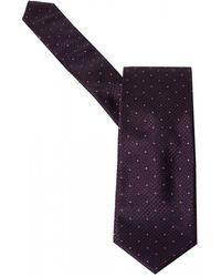 BOSS Pink Dot Plum Purple Silk Tie