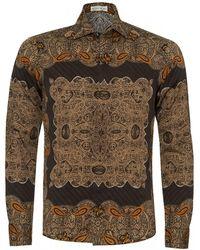 Etro African Printed Shirt - Black