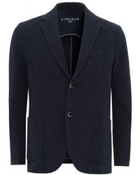 Circolo 1901 Oxford Jersey Blazer, Navy Jacket - Blue