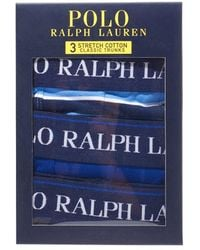 Polo Ralph Lauren 3-pack Navy/blue/sky Boxer Shorts, Multicoloured Trunks