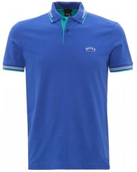 BOSS by Hugo Boss Paul Curved Cobalt Blue Slim Fit Polo Shirt
