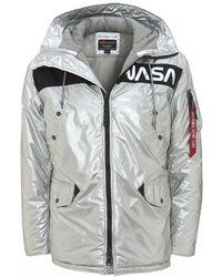 Alpha Industries N-3b Vf Nasa Parka, Metallic Silver Jacket