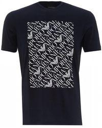 c2f2620e34 Logo Printed T-shirt - Blue