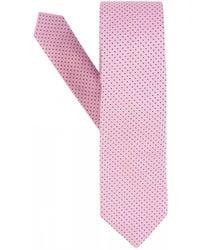 BOSS Pink Silk Jacquard Micro-dot Tie