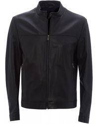 BOSS Black Nardi Blouson-style Leather Jacket