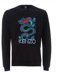 KENZO Dragon Print Sweatshirt, Black Sweat