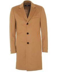 BOSS - Nye2 Formal Camel Slim Fit Coat - Lyst
