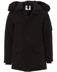 KENZO Padded Hooded Parka, Black Down Filled Jacket