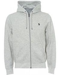 Ralph Lauren - Tech Fleece Hoodie, Double Knit Grey Hooded Sweat - Lyst