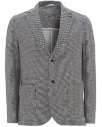 Circolo 1901 Houndstooth Jacket, Semi Slim Fit Blazer - Gray