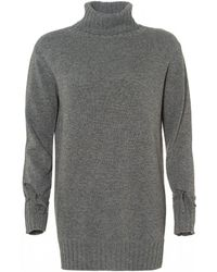 I Blues - Cascata Roll Neck Jumper, Grey Sweater Dress - Lyst