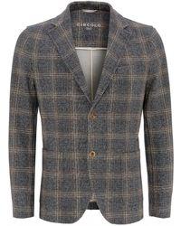 Circolo 1901 Anthracite Blazer, Double Check Tweed Jacket - Gray
