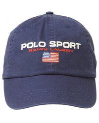 Ralph Lauren Sport Flag Baseball Cap, Navy Blue Hat