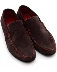 5026b5ac58478 Loake Suede Nicholson Loafers in Blue for Men - Lyst
