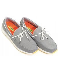 Swims - Breeze Leap Laser Loafers, Mesh Grey Shoes - Lyst