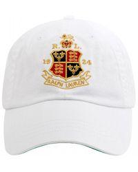 Polo Ralph Lauren Crest Baseball Cap, White Hat