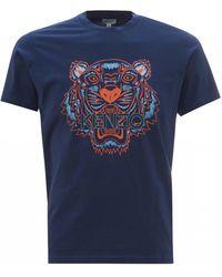 KENZO Tiger Head T-shirt, Ink Blue Slim Fit Tee