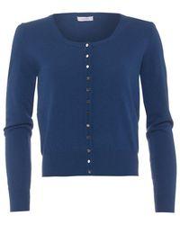 I Blues - Divas Cardigan, Navy Blue Button Down Knitwear - Lyst