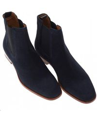 BOSS Cardiff_cheb_sd Boots, Dark Blue Chelsea Boots