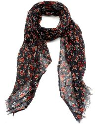 American Vintage - Caldwell Scarf, Strawberry Carbon Print Model Scarf - Lyst