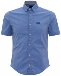BOSS Biadia Blue Regular Fit Logo Shirt