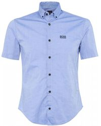 BOSS Athleisure Regular Fit Biadia Shirt - Blue