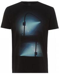 BOSS Tnight T-shirt, Digital Print Black Tee