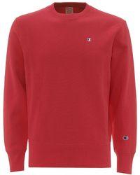 Champion Reverse Weave Sweatshirt, Pink Basic Sweat