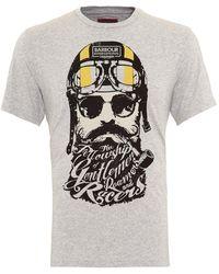 Barbour - International Triumph T-shirt, Gentlemen Bearded Grey Marl Tee - Lyst