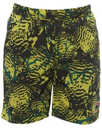BBCICECREAM Fish Camo Swimshorts, Yellow Shorts