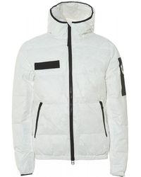 True Religion Hooded Down Bomber Jacket, White Regular Fit Bomber
