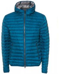 Colmar Light Down Hooded Wave Blue Jacket