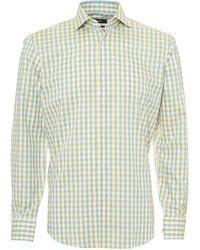 BOSS Gordon Shirt, Large Gingham Soft Lemon Yellow Shirt