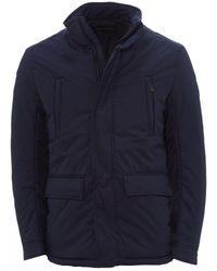 Emporio Armani Caban Coat - Blue