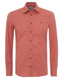 Vivienne Westwood - Classic Stretch Shirt, Regular Fit Brick Red Shirt - Lyst