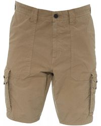 BOSS Sargo Tapered Fit Beige Cargo Shorts - Natural