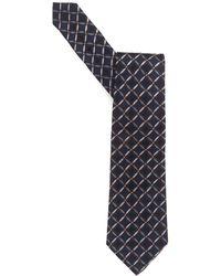 Armani - Tie, Black Circle Print Silk Tie - Lyst