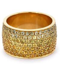 Emily P. Wheeler Ombre Borderless Cigar Ring - Metallic