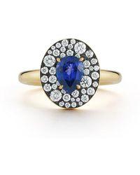 Jemma Wynne Privé Oval Tanzanite Ring - Blue