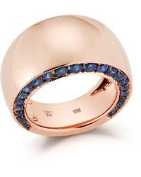 WALTERS FAITH Sapphire Edge Wide Ring - Multicolor