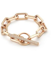 WALTERS FAITH Saxon Diamond Toggle Chain Link Bracelet - Metallic