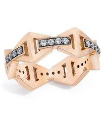 WALTERS FAITH Keynes Signature Diamond Hex Ring - Metallic