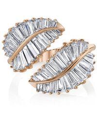 Anita Ko Palm Leaf Ring - Metallic