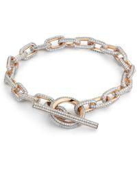 WALTERS FAITH Saxon All Diamond Toggle Chain Link Bracelet - Metallic